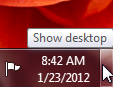 """Show desktop"" button"