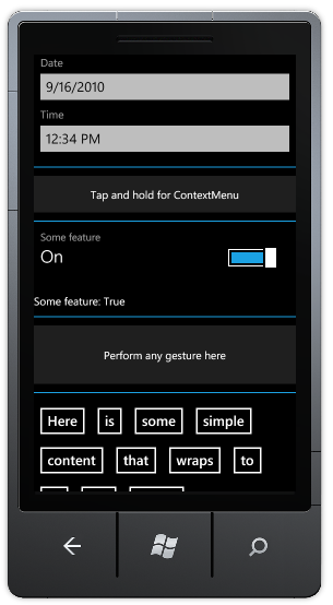 Phone Toolkit Sample Application