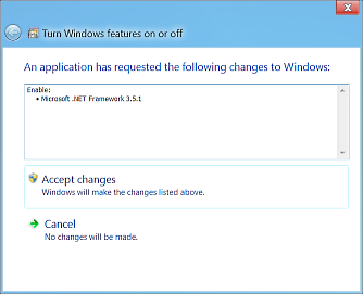 Windows 8 .NET 3.5 install prompt