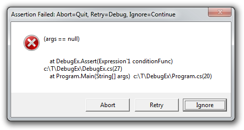 DebugEx.Assert with automatic message