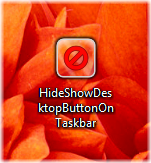 HideShowDesktopButtonOnTaskbar icon