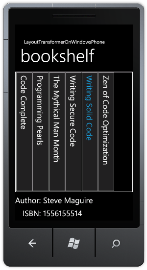 LayoutTransformer on Windows Phone