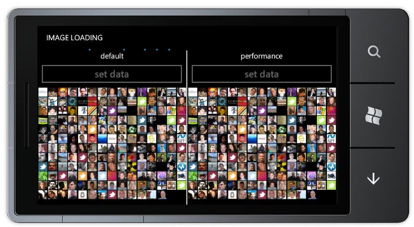 PhonePerformance Image Loading sample