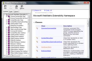 Microsoft.WebMatrix.Extensibility help file