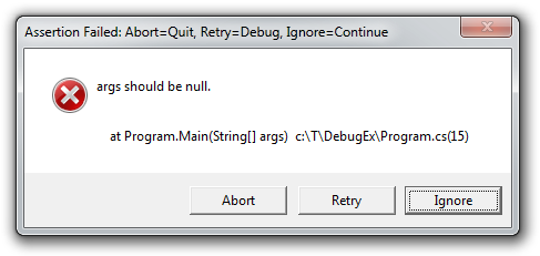 Debug.Assert with message