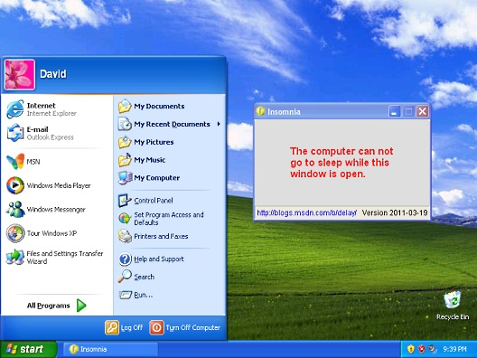 Insomnia running on Windows XP