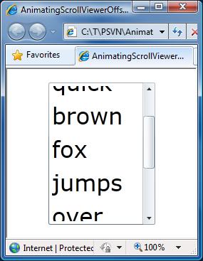 AnimatingScrollViewerOffsets sample
