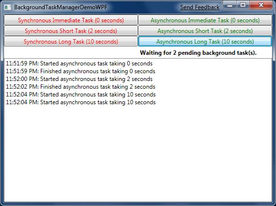 BackgroundTaskManagerDemo on WPF