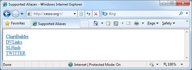 Custom URL shortener in action