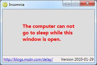 Insomnia application