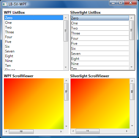 Silverlight 2's ListBox and ScrollViewer running on WPF