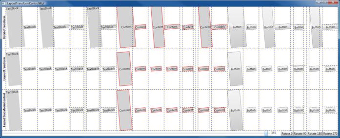 LayoutTransformControl Test Matrix on WPF