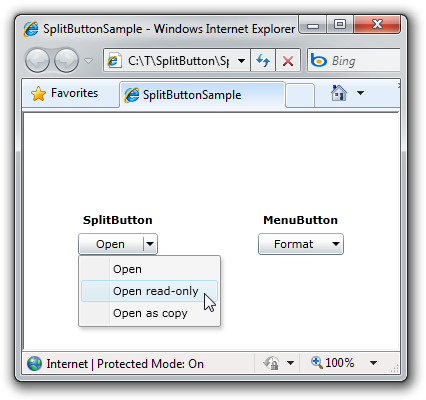 SplitButton and MenuButton