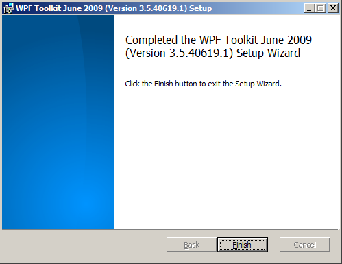 WPF Toolkit installer