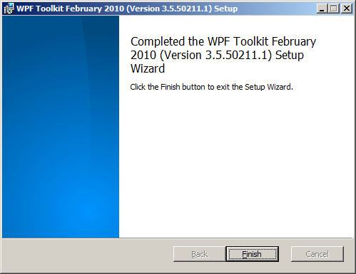 WPF Toolkit February 2010 installer